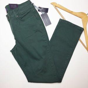 NWT NYDJ green skinny jeans size 8